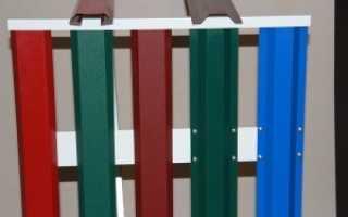 Забор из металлического штакетника фото: фото,цены, установка своими руками