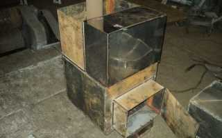 Печь для бани своими руками из металла с баком для воды: чертеж, изготовление по шагам
