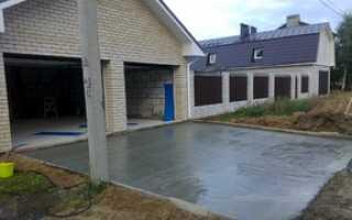Бетонирование двора частного дома своими руками: этапы и нюансы