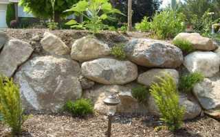Подпорная стенка на участке с уклоном своими руками из бетона, камней и других материалов