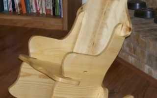 Как сделать кресло качалку своими руками: чертежи, мастер класс