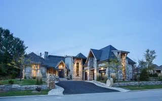 Красивые дома из камня (55 фото)
