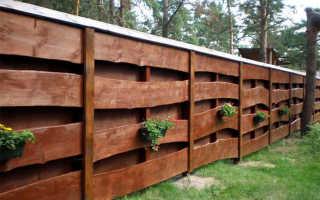 Забор из необрезной доски своими руками: фото-инструкция