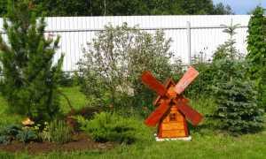 Декоративная мельница своими руками для сада: как сделать, чертежи, фото, оригинальные идеи
