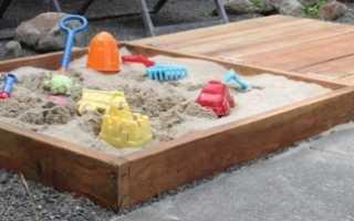 Как сделать песочницу на даче своими руками: фото готовых вариантов