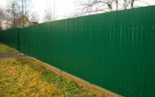 Забор из металлопрофиля своими руками: фото, размеры, установка, стоимость