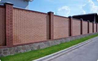 Забор из кирпича своими руками: установка, варианты на фото