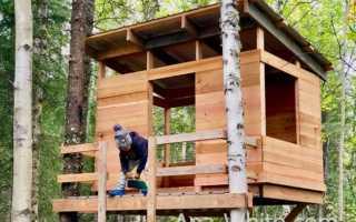Как сделать домик на дереве своими руками: инструкция, видео