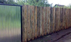 Забор из горбыля своими руками: как построить, сколько стоит, варианты, фото