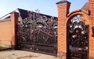 Кованые ворота и калитки: какие бывают, фото, эскизы и картинки для тех, кто хочет сделать своими руками