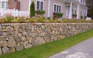 Подпорная стенка на даче своими руками: из кирпича, камня, бута, габионов, шпал, бруса