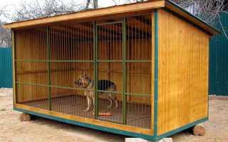 Правильное обустройство и постройка вольера для собак своими руками